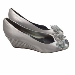 Roberto Capucci Made in Italy White Wedge Heels